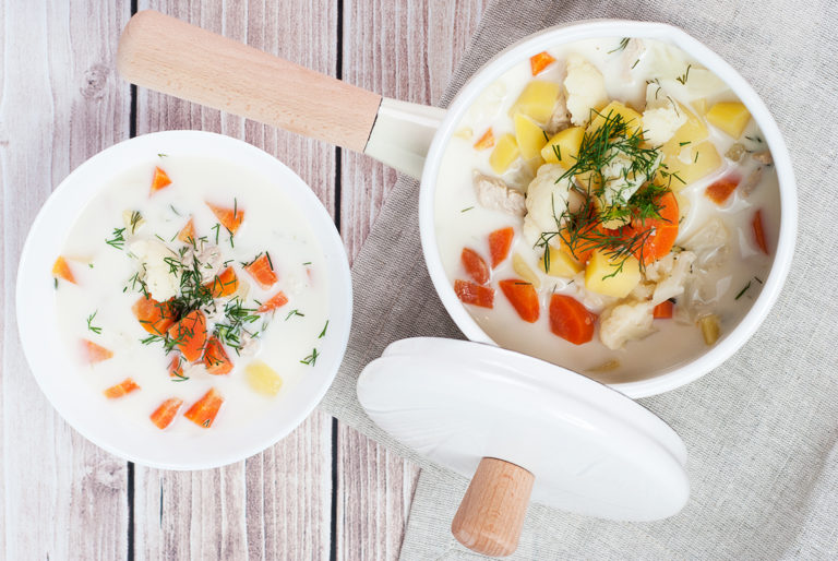 Zupa kalafiorowa z koperkiem | lunchboxodkuchni.pl