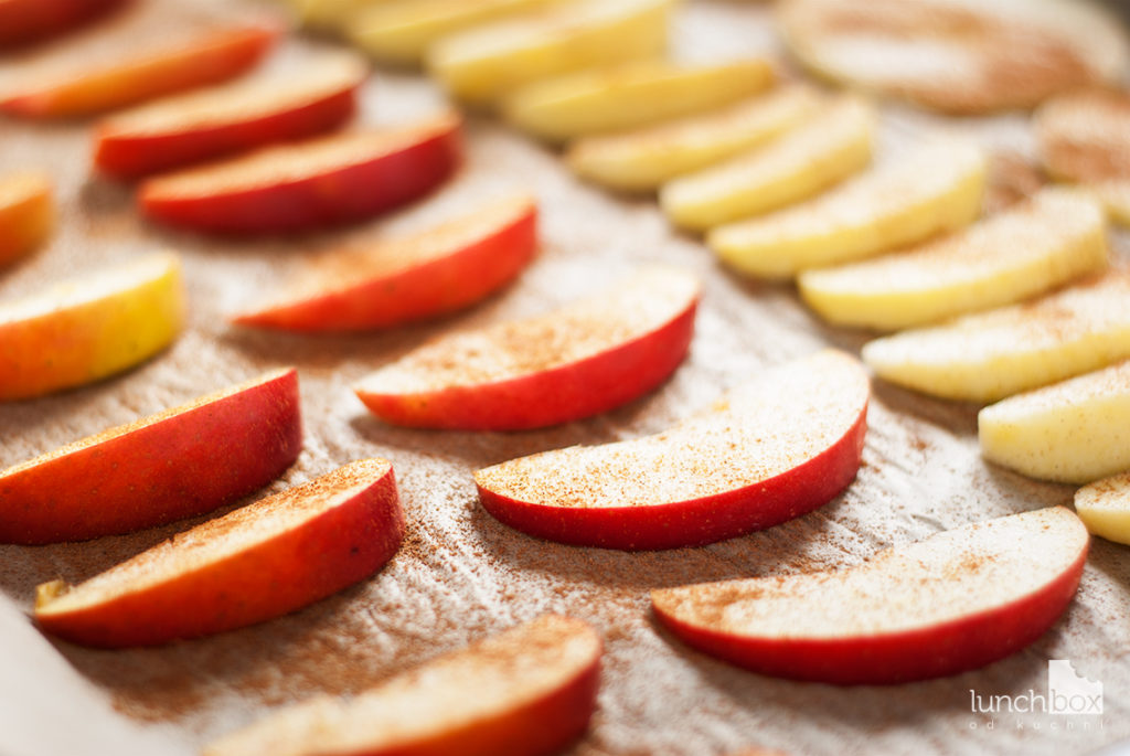 Pieczone jabłka z cynamonem - przed pieczeniem | lunchboxodkuchni.pl