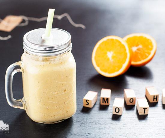 Smoothie banan z pomarańczą | lunchboxodkuchni.pl