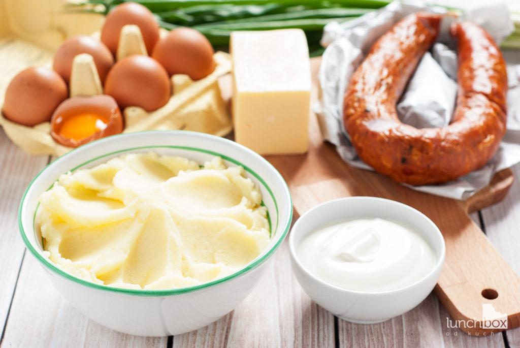 Zapiekanka ziemniaczana - produkty | lunchboxodkuchni.pl