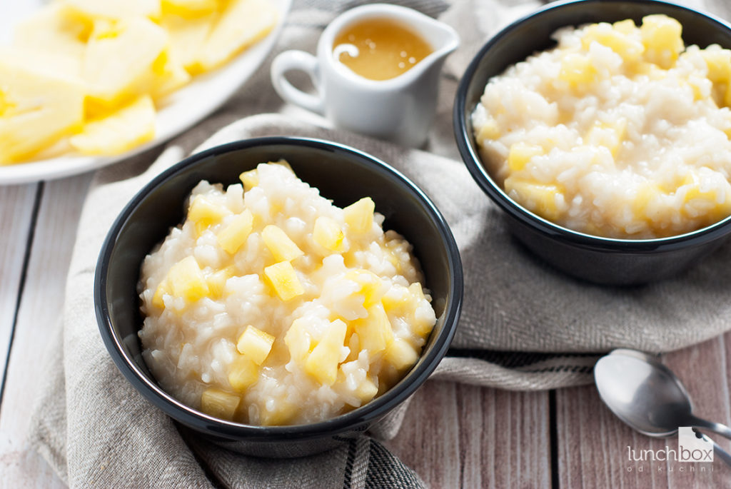 Ryż na mleku kokosowym z ananasem | lunchbodokuchni.pl