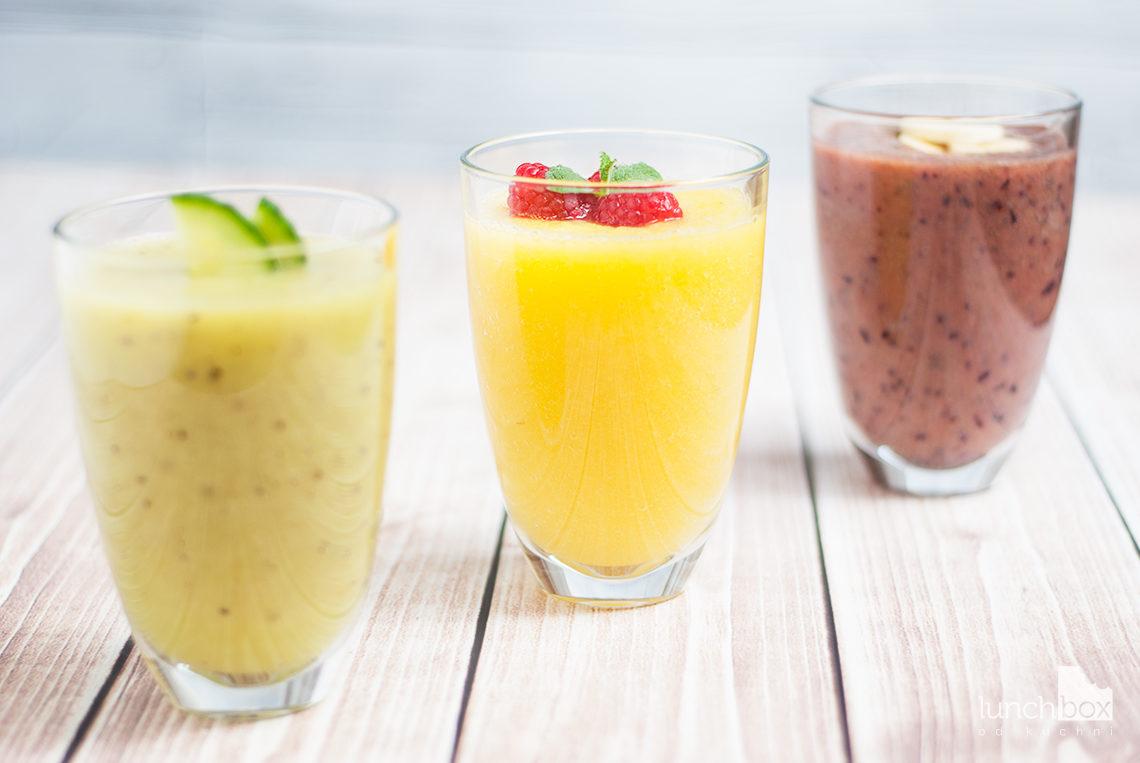 Smoothie: kiwi, mango i borówka | lunchboxodkuchni.pl