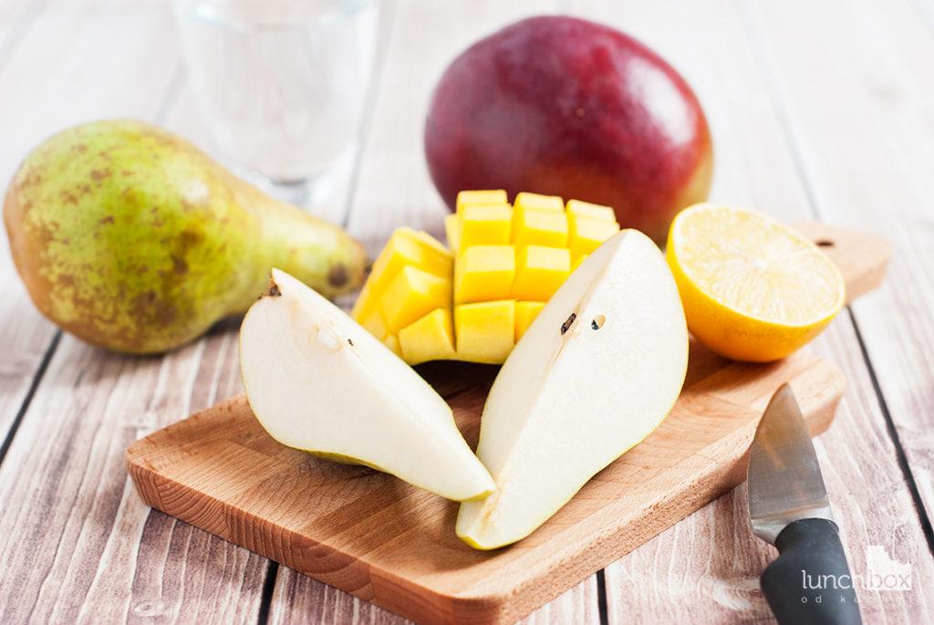 Smoothie z mango i gruszki - produkty | lunchboxodkuchni.pl