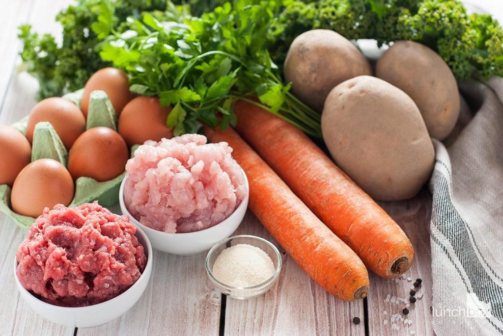 Zupa jarmużowa na pulpetach mięsnych - produkty   lunchboxodkuchni.pl