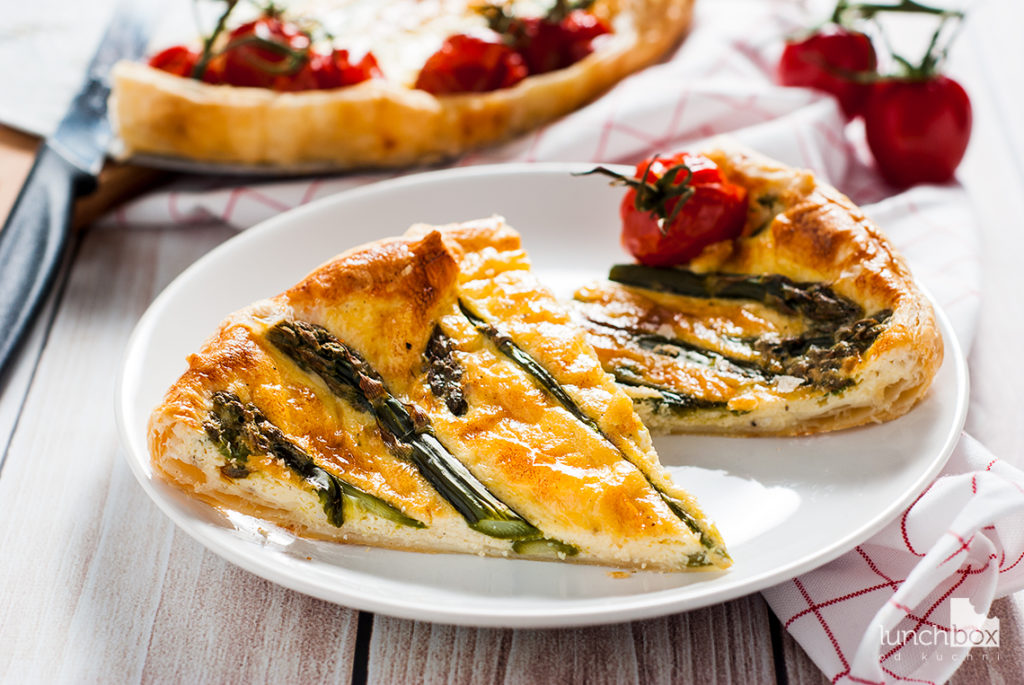 Quiche ze szparagami | lunchboxodkuchni.pl