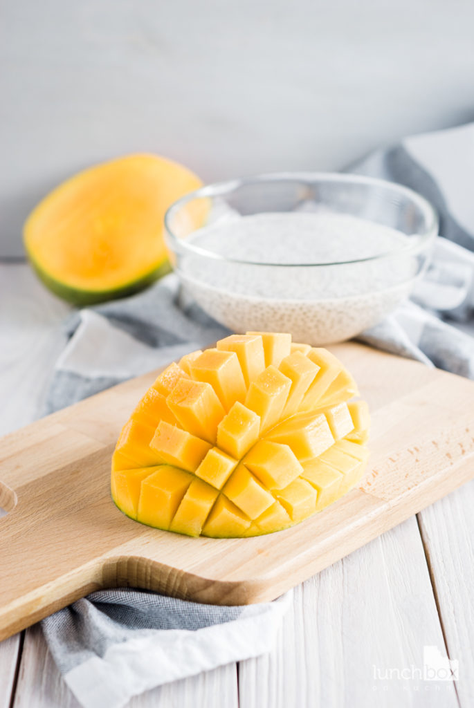 Pudding chia na mleku kokosowym z mango i imbirem | lunchboxodkuchni.pl