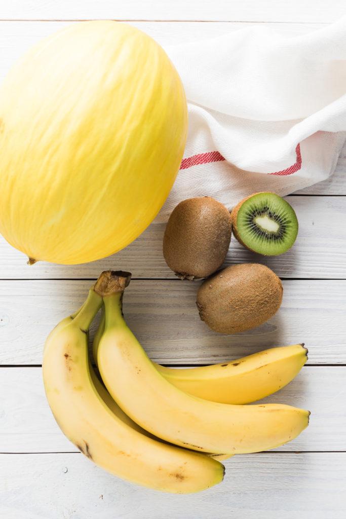 Smoothie z melona, banana i kiwi | lunchboxodkuchni.pl